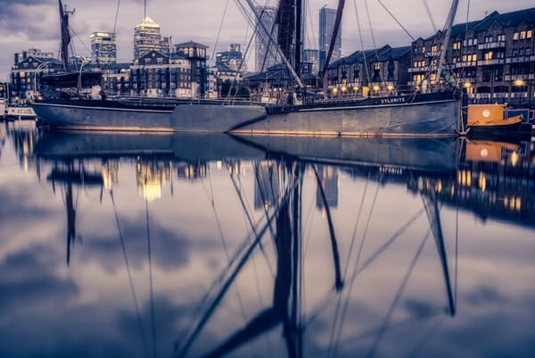 Xylonite In Limehouse Basin Art | Martin Geddes Photography