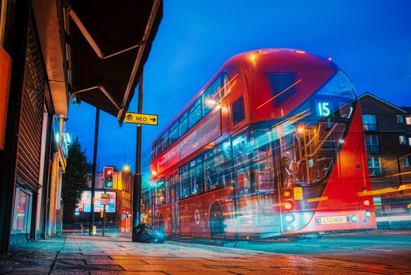 Limehouse Bus #1 Art   Martin Geddes Photography