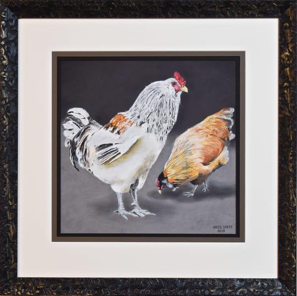 Greg Stett Art Pastels - Rooster