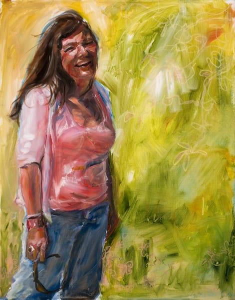 portrait, woman, figurative, joyous
