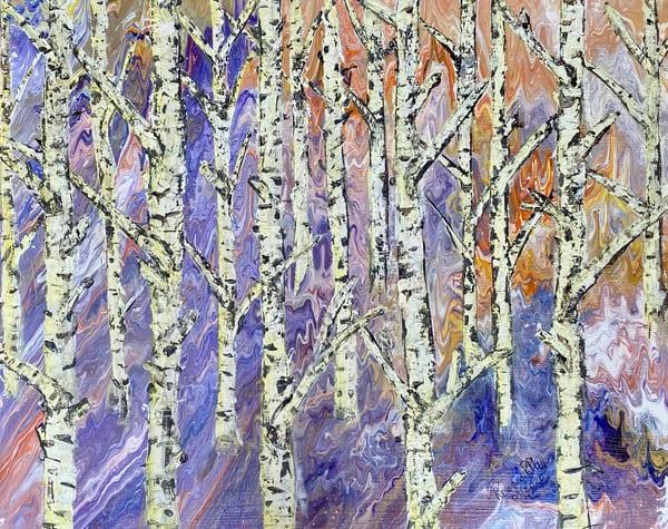 Aspen's Trees Twilight Art | Rowena Art Shop