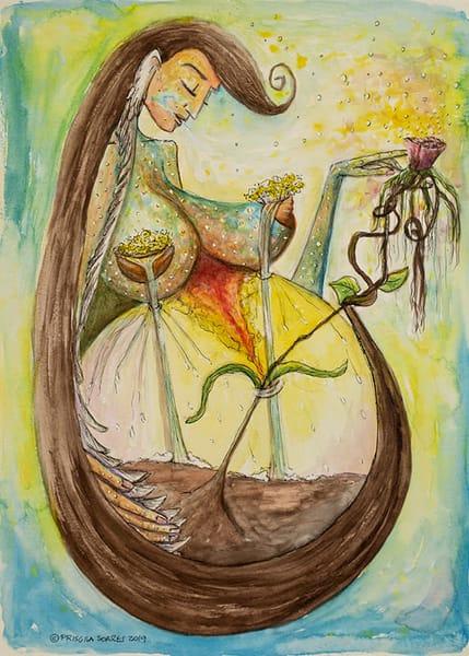 Mother Earth   Original Art | Priscila Soares - MyLuckyEars