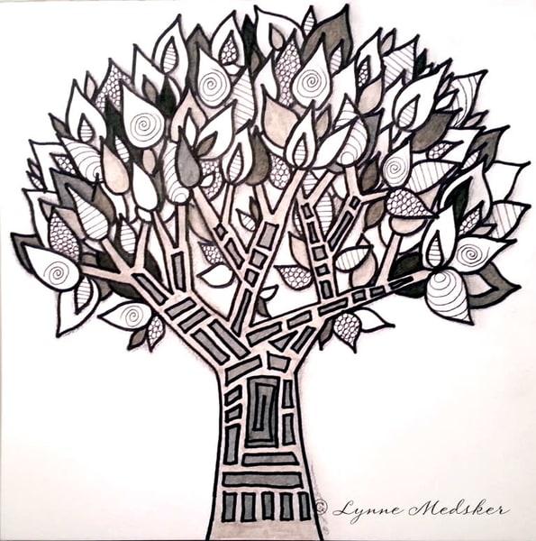 Monochrome Tree Original Art Art | Lynne Medsker Art & Photography, LLC