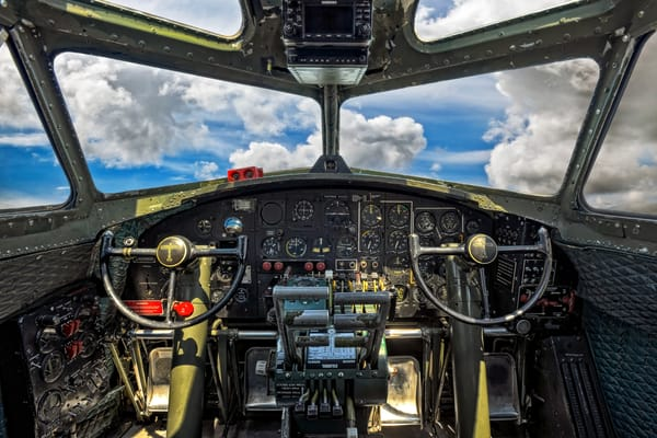 B17 Cockpit Photography Art | Ken Smith Gallery