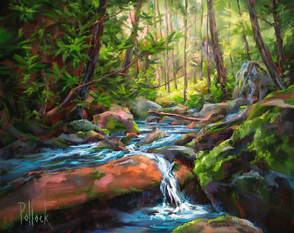 Study, Stream Crossing Art | Sarah Pollock Studio