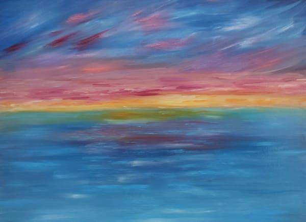 Aqua Sunset Art | Artist Ron Turner