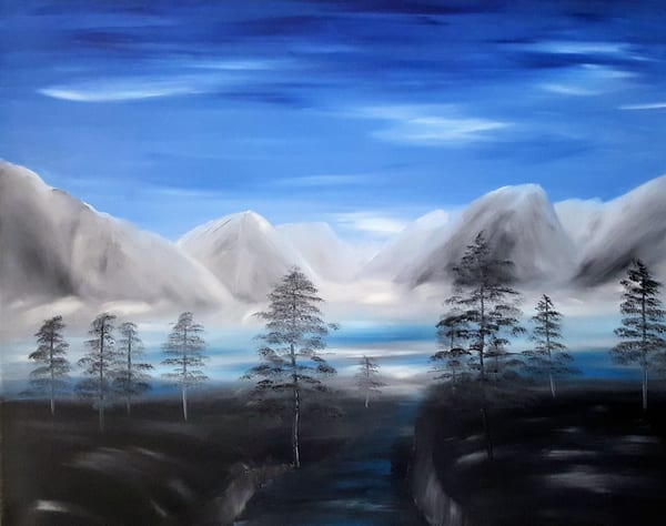Mountains At Dawn Art | Artist Ron Turner