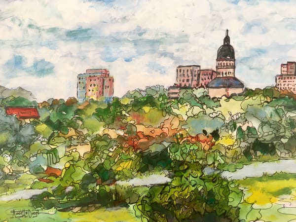 Topeka, Kansas  Art | vibrant art studio, Art by Annette Dion McGowan