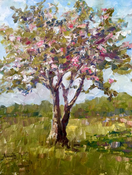 My Apple Tree In Spring Art | vibrant art studio, Art by Annette Dion McGowan