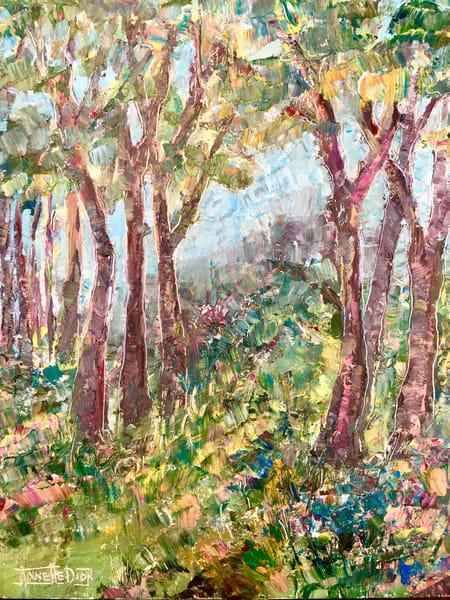 Trees Of Color Art | vibrant art studio, Art by Annette Dion McGowan