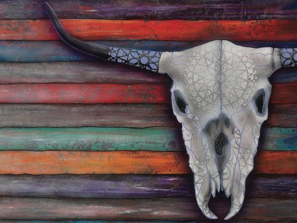 skull, cow-skull, bull-skull, steer-skull, urban-art, rustic-art