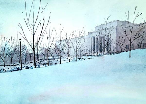 Kc Nelson Atkins Winter Art | Steven Dragan Fine Art