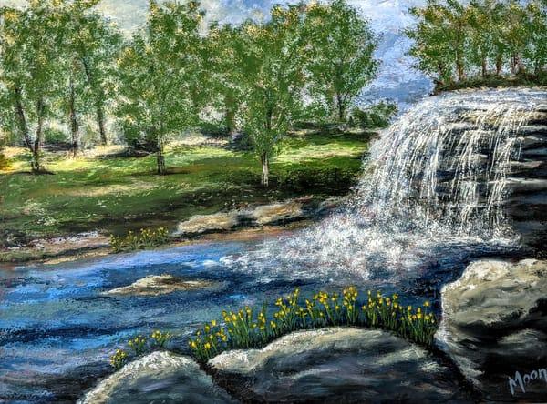 Waterfall Landing Art | Carol Moon Art