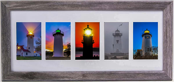 Collage Print   Five Lighthouse Of Martha's Vineyard | Michael Blanchard Inspirational Photography - Crossroads Gallery