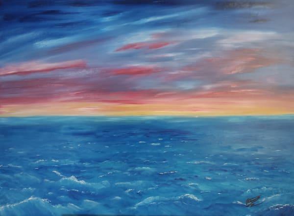 High Seas Sunset Art | Artist Ron Turner