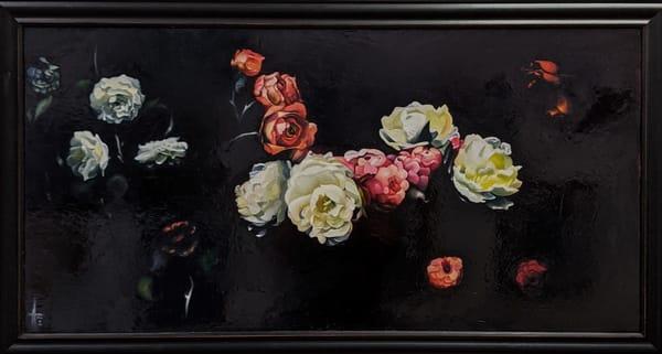 Matthew Peterson - original artwork - realism - nature - heirloom flowers - Revelation