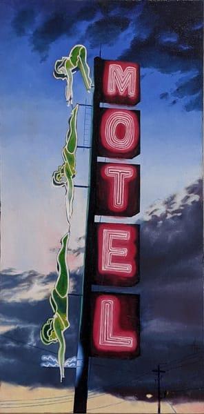 Matthew Peterson -  original artwork - neon signs - realism - landmarks - Starlight