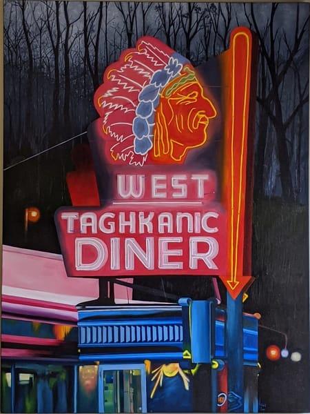 Matthew Peterson - original artwork - neon signs - realism - landmarks - West Taghkanic Diner - Time is Dancing