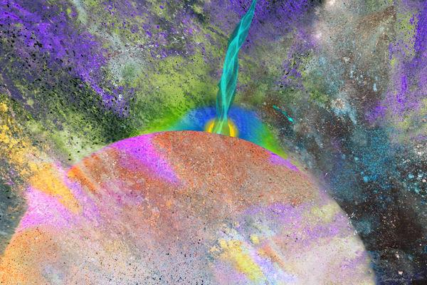 Awakening #6 Original Digital Print by visionary artist David Copson