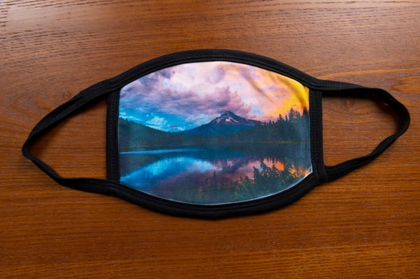 Fire Sky Mt Hood Mask | Call of the Mountains Photography