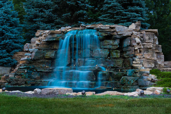 Photo Art by James - Overland Park Waterfall