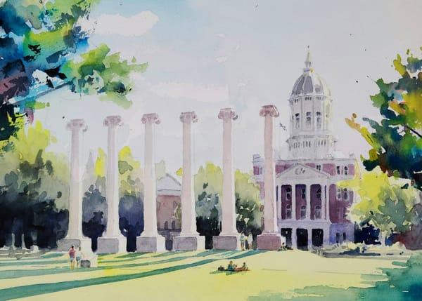 University Of Missouri Campus Columns Art | Steven Dragan Fine Art