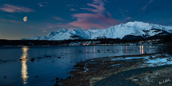 Moon Over Ft Seward Art | Alaska Wild Bear Photography