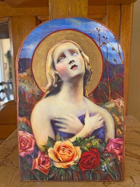 Arched Santa Fe Angel Of Hope Art | Maniscalco Art