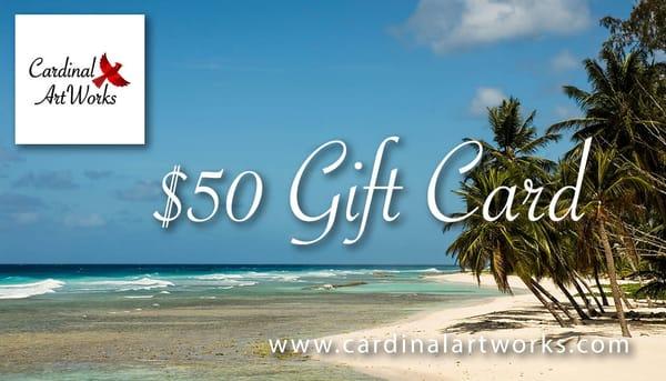 $50 Gift Card | Cardinal ArtWorks LLC