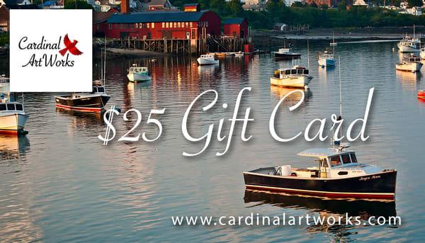 $25 Gift Card | Cardinal ArtWorks LLC