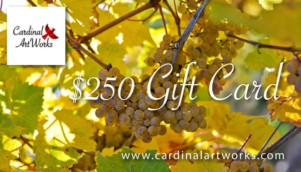 $250 Gift Card | Cardinal ArtWorks LLC