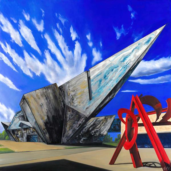 Denver Art Museum | Original Mixed Media Painting Art | MMG Art Studio | Fine Art Colorado Gallery