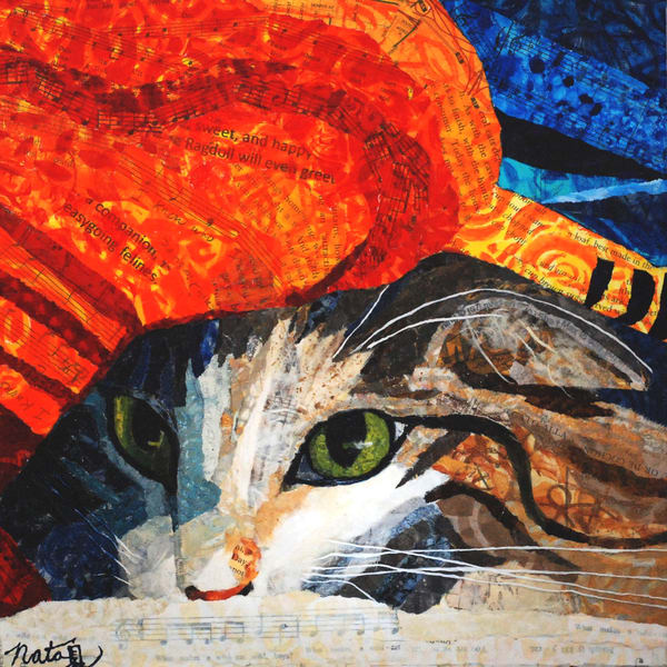 Undercover Cat Art | Poppyfish Studio