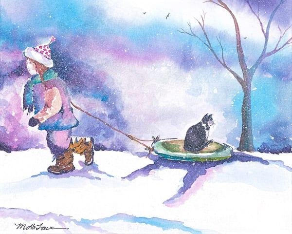 "Cards ""Winter Fun"" (Large) Art | Mickey La Fave"