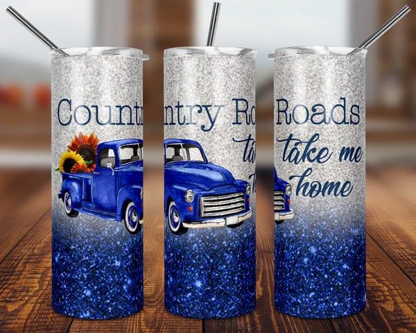 County Roads Take Me Home Tumbler