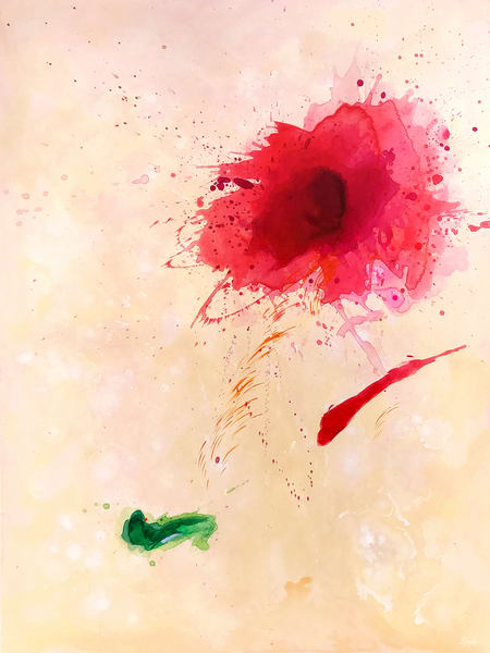 Red Bloom I Painting on Canvas by Artist  Deepa Koshaley