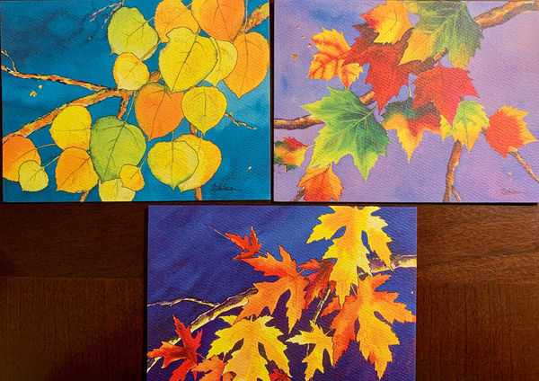 """Cards """"Fall Leaves Collection"""" Art 