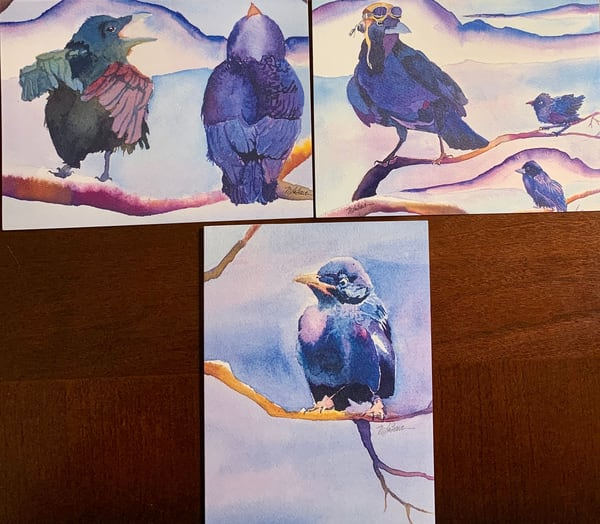 """Cards """"Flying Lessons With Ace"""" Art 
