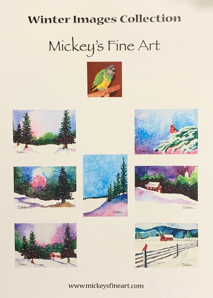 """Cards """"Winter Images Collection"""" Art 