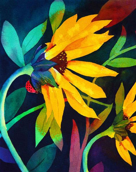 "Cards ""Sunflowers"" Art | Mickey La Fave"