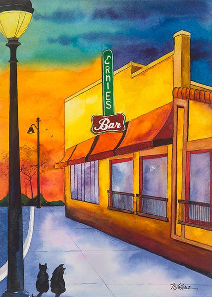 Ernies Bar Art | Mickey La Fave