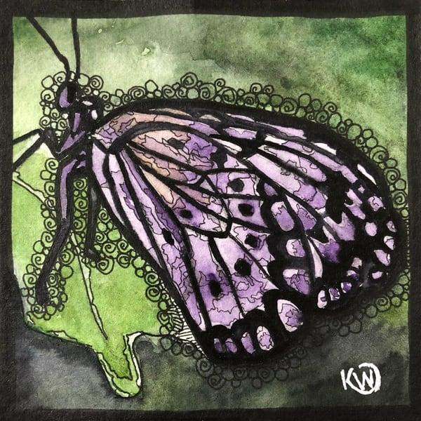 Water Mini: Purple Wings   Water+Ink Studios
