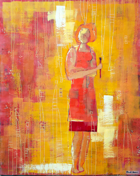 With A Brush Ii Art | Rinat Goren