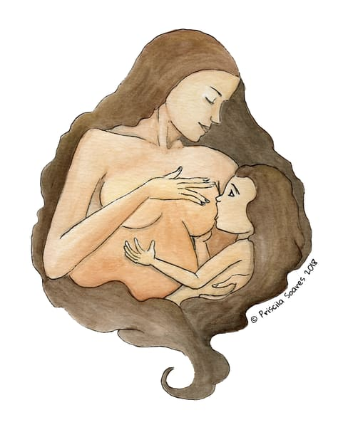 Breastfeeding Love Art | Priscila Soares - MyLuckyEars