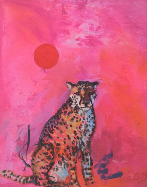 Cheetah Fantasy   Original Art | Sharon Guy