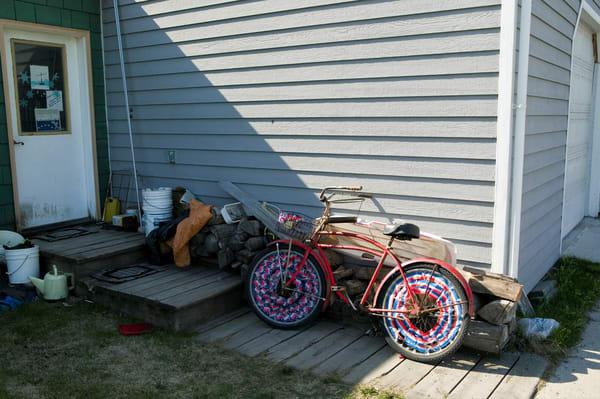 Fancy Bike Skagway  Art   DocSaundersPhotography