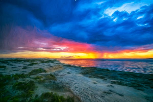 Beach Walk At Sunset   Impressionistic Photography Art | Carol Brooks Parker Fine Art Photography