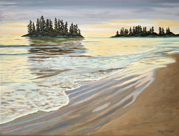 Painting inspired by Schooner Cove in Tofino BC