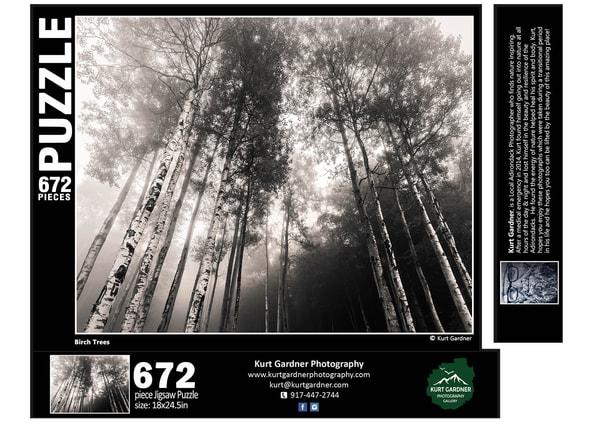 In Stock Birch Tree Puzzle | Kurt Gardner Photogarphy