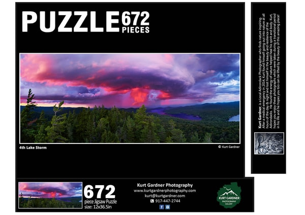 In Stock 4th Lake Storm Panoramic Puzzle | Kurt Gardner Photogarphy